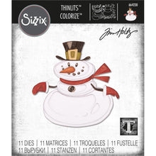 Load image into Gallery viewer, TIM HOLTZ METAL DIE CUTS THINLITS MR SNOWMAN (HAS TO BE ORDERED)