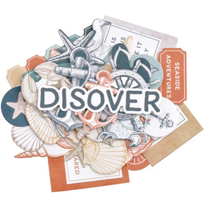 KAISERCRAFT UNCHARTED WATERS DIE CUT EMBELLISHMENTS (IN STOCK)
