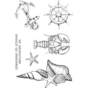 KAISERCRAFT UNCHARTED WATERS CLEAR STAMPS (IN STOCK)