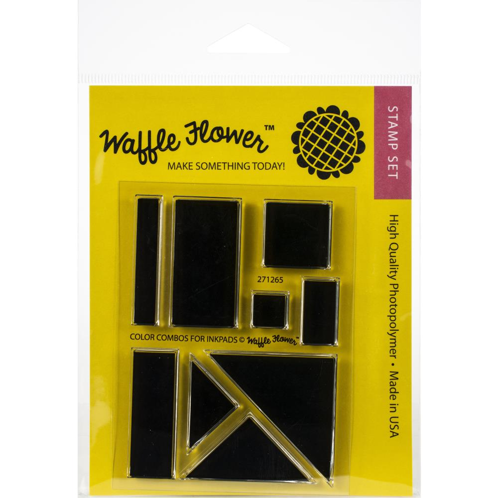 WAFFLE FLOWER CLEAR STAMPS COLOR COMBOS FOR INK PADS 3