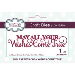 "CREATIVE EXPRESSIONS METAL DIE CUTS FESTIVE MINI ""MAY ALL OF YOUR WISHES COME TRUE"" (HAS TO BE ORDERED)"