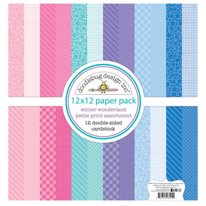 "DOODLEBUG WINTER WONDERLAND 12""X12"" PETITE PRINTS PAPER PACK (HAS TO BE ORDERED)"