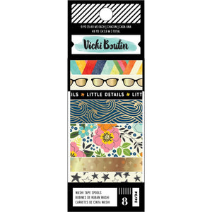 AMERICAN CRAFTS VICKI BOUTIN LET'S WANDER WASHI TAPE (HAS TO BE ORDERED)