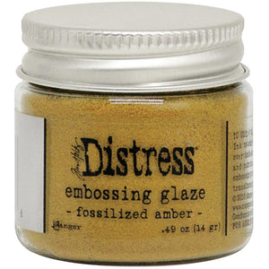 TIM HOLTZ DISTRESS EMBOSSING GLAZE FOSSILIZED AMBER (HAS TO BE ORDERED)
