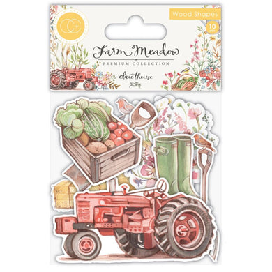 CRAFT CONSORTIUM FARM MEADOW WOODEN SHAPE EMBELLISHMENTS (IN STOCK)