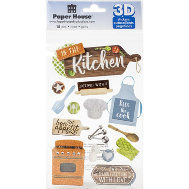 PAPER HOUSE 3D STICKER EMBELLISHMENTS IN THE KITCHEN (HAS TO BE ORDERED)