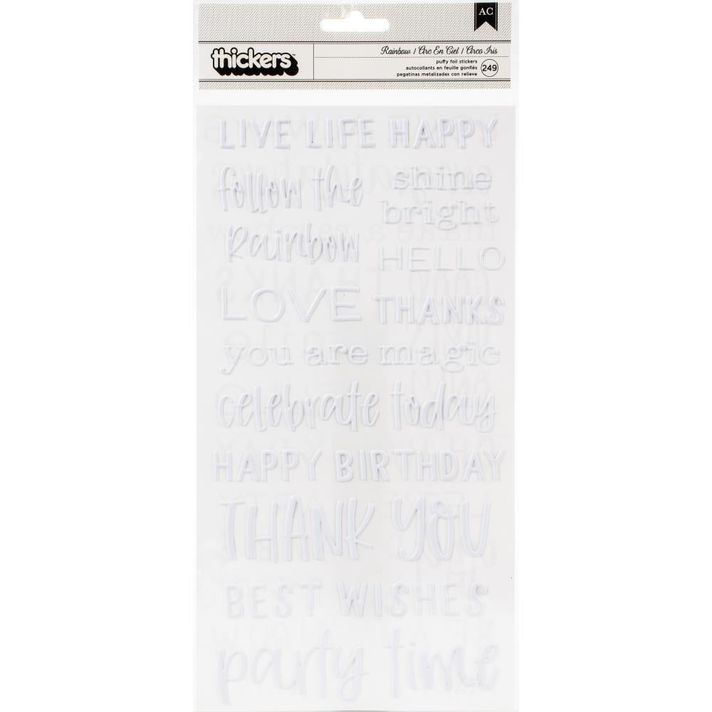 AMERICAN CRAFTS PEBBLES LIVE LIFE THICKERS (HAS TO BE ORDERED)
