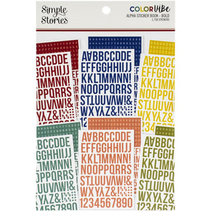 SIMPLE STORIES COLOR VIBE STICKERS ALPHABETS 12 SHEETS BOLD (HAS TO BE ORDERED)