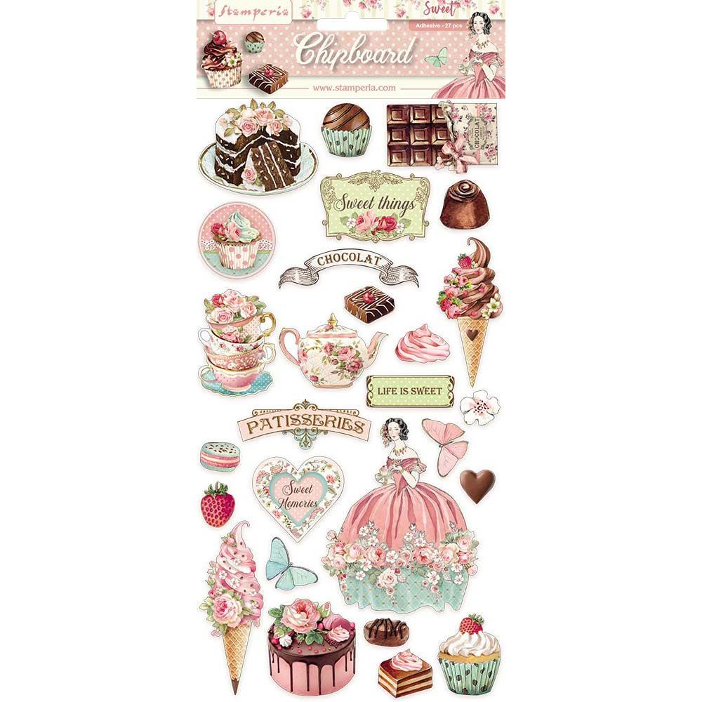 STAMPERIA SWEETY ADHESIVE CHIPBOARD (IN STOCK)