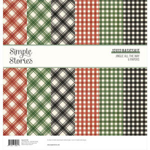 "SIMPLE STORIES JINGLE ALL THE WAY BASICS 12""X12"" PAPER PACK (HAS TO BE ORDERED)"