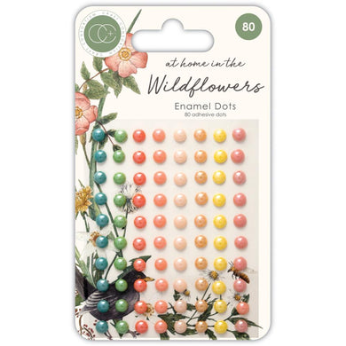 CRAFT CONSORTIUM AT HOME IN THE WILDFLOWERS ENAMEL DOTS (IN STOCK)