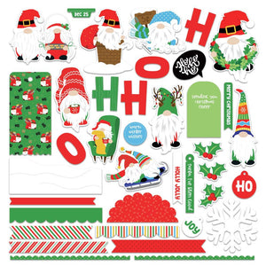 "PHOTO PLAY GNOME FOR CHRISTMAS CARD KIT 12""X12"" STICKER SHEET (IN STOCK)"