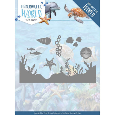 FIND IT TRADING AMY DESIGN UNDERWATER WORLD METAL DIE CUTS SEA LIFE  (HAS TO BE ORDERED)