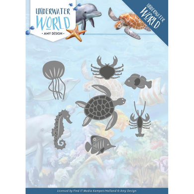 FIND IT TRADING AMY DESIGN UNDERWATER WORLD METAL DIE CUTS OCEAN ANIMALS  (HAS TO BE ORDERED)
