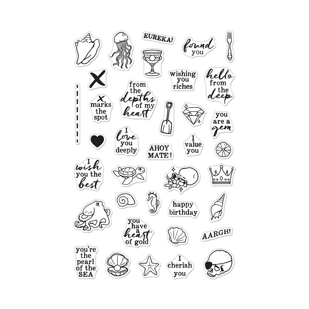HERO ARTS CLEAR STAMPS DEEP SEA MESSAGES (HAS TO BE ORDERED)