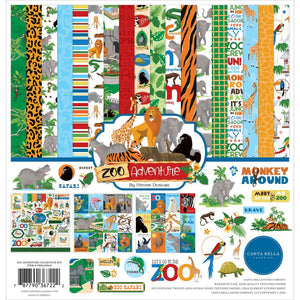 "CARTA BELLA ZOO ADVENTURE 12""X12"" COLLECTION PACK (PRE-ORDER)"