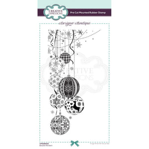 CREATIVE EXPRESSIONS RUBBER STAMP BAUBLE PENDANT (HAS TO BE ORDERED)