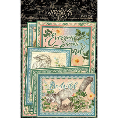 GRAPHIC 45 WOODLAND FRIENDS EPHEMERA & JOURNALING CARDS (PRE-ORDER)