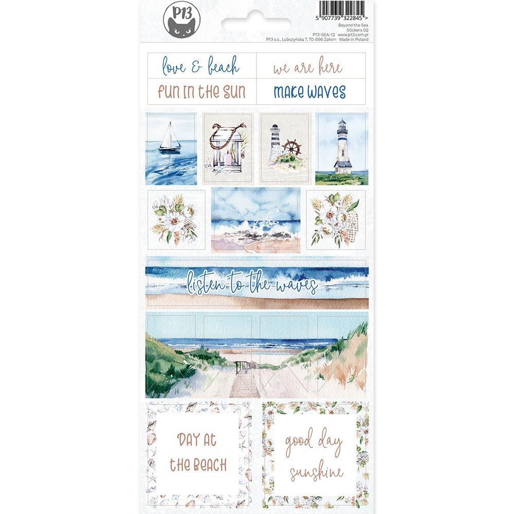 P13 BEYOND THE SEA #2 CARDSTOCK STICKER SHEET 4