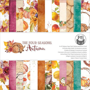 "P13 THE FOUR SEASONS- AUTUMN 6""X6"" PAPER PAD (IN STOCK)"