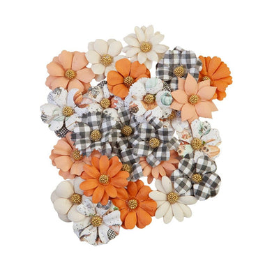 PRIMA PUMPKIN & SPICE MULBERRY PAPER FLOWERS WARM MITTENS (IN STOCK)