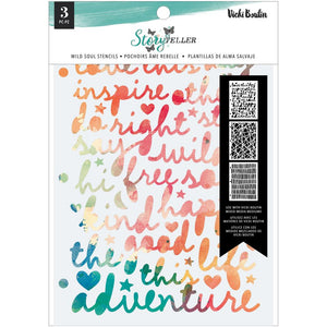 AMERICAN CRAFTS VICKI BOUTIN STORYTELLER STENCILS 3 PACK WILD SOUL (IN STOCK)