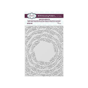 "CREATIVE EXPRESSIONS 3D EMBOSSING FOLDER ""WINTER WREATH"" (IN STOCK)"