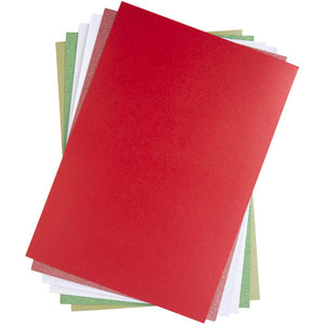 "SIZZIX SURFACES OPULENT PAPER CARDSTOCK PACK ""FESTIVE PEARL & GLITTER"" 8.5""X11"" 50 PACK (IN STOCK)"