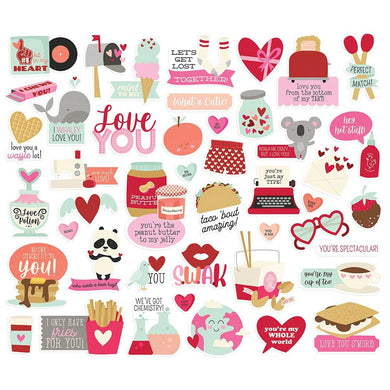 SIMPLE STORIES SWEET TALK BITS & PIECES DIE CUT PACK (IN STOCK)