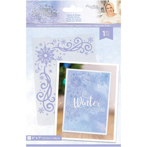 CRAFTER'S COMPANION GLITTERING SNOWFLAKES EMBOSSING FOLDER TOUCH OF WINTER (PRE-ORDER)