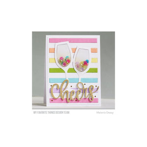 MY FAVORITE THINGS METAL DIE CUT WINE GLASS SHAKER WINDOW & FRAME (HAS TO BE ORDERED)