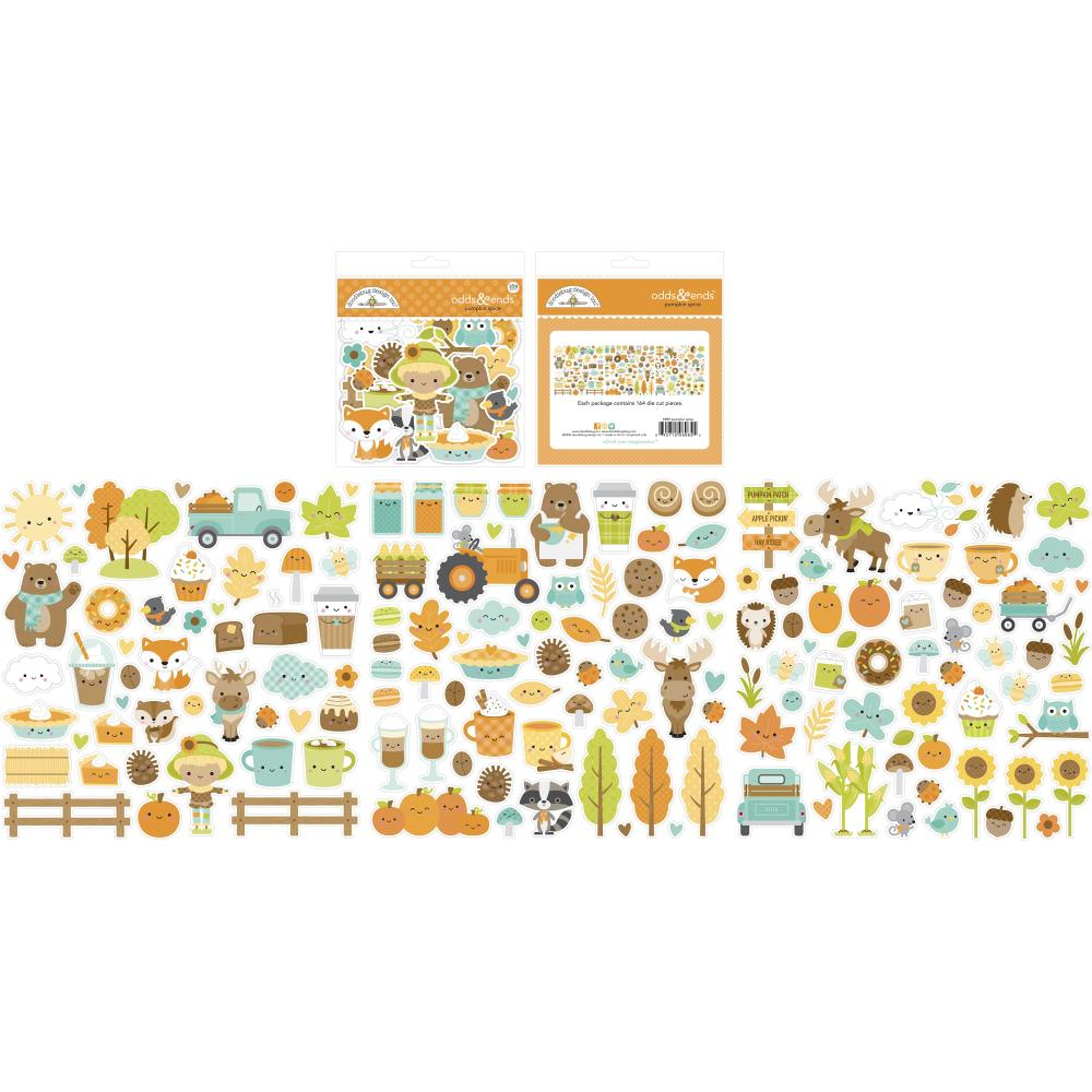 DOODLEBUG PUMPKIN SPICE ODDS & ENDS DIE CUTS (IN STOCK)