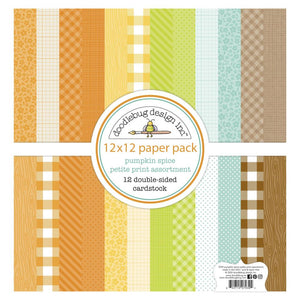 "DOODLEBUG PUMPKIN SPICE 12""X12"" PETITE PRINTS PAPER PACK (IN STOCK)"