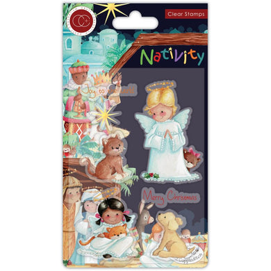 CRAFT CONSORTIUM NATIVITY A5 STAMPS ANGELS (HAS TO BE ORDERED)