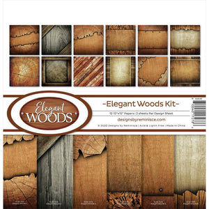 "REMINISCE 12""X12"" COLLECTION PACK ELEGANT WOODS (IN STOCK)"