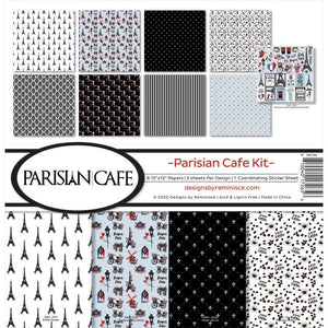 "REMINISCE 12""X12"" COLLECTION PACK PARISIAN CAFE (HAS TO BE ORDERED)"