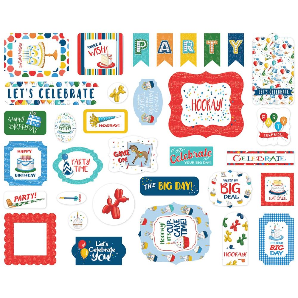 CARTA BELLA LET'S CELEBRATE EPHEMERA ICONS (HAS TO BE ORDERED)
