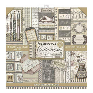 "STAMPERIA 12""X12"" PAPER PACK ""CALLIGRAPHY"" (IN STOCK)"