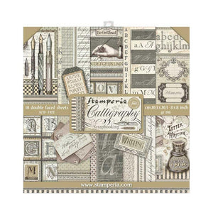"STAMPERIA CALLIGRAPHY 8""X8"" PAPER PAD (IN STOCK)"