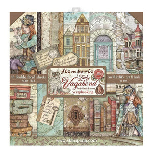 "STAMPERIA 12""X12"" PAPER PACK ""LADY VAGABOND"" (HAS TO BE ORDERED)"
