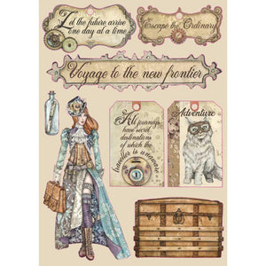 "STAMPERIA LADY VAGABOND ""LABELS"" A5 WOODEN SHAPES (PRE-ORDER)"