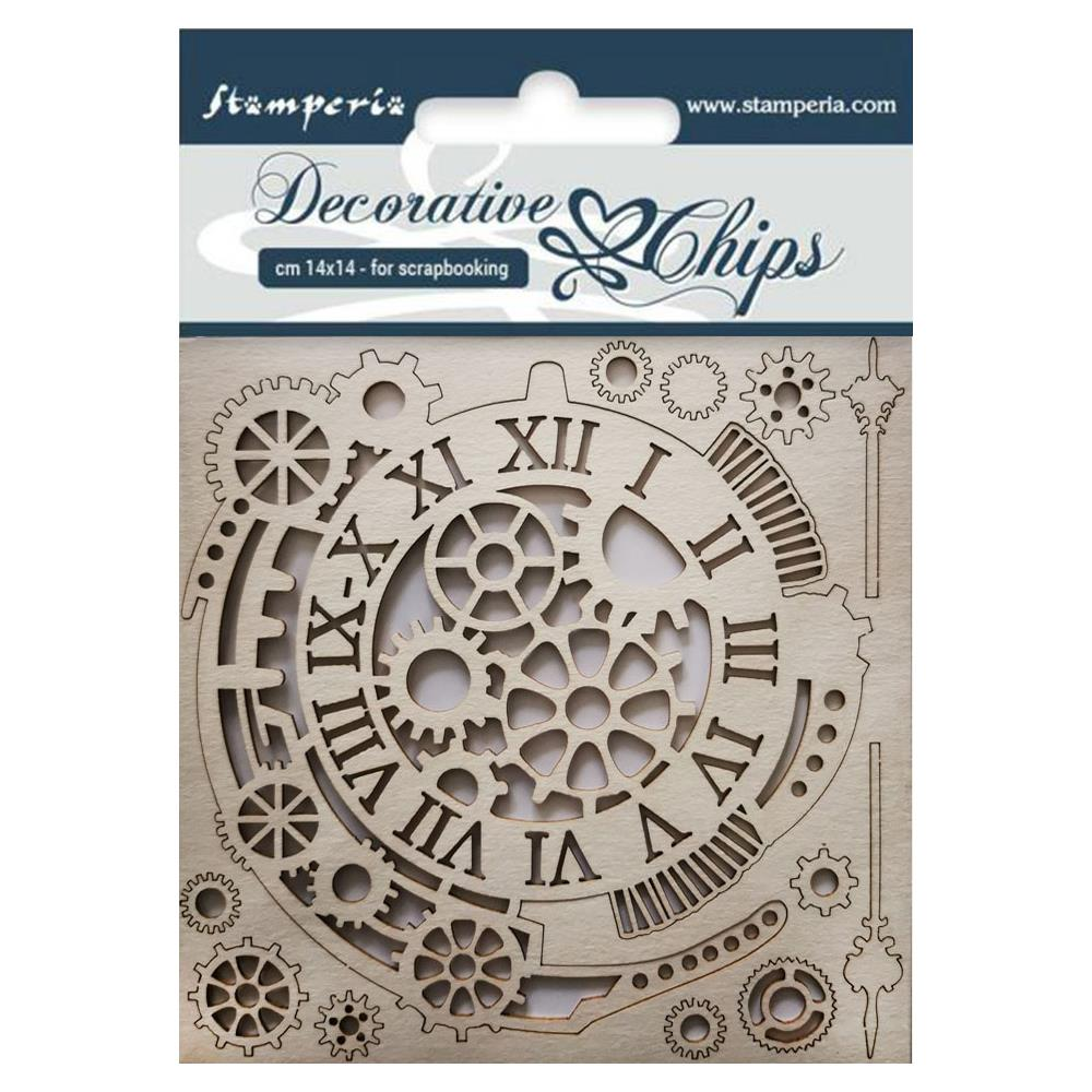 STAMPERIA DECORATIVE CHIPS CHIPBOARD 5.5