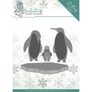 FIND IT TRADING YVONNE CREATIONS WINTER TIME PENGUINS ON ICE METAL DIE CUT (HAS TO BE ORDERED)