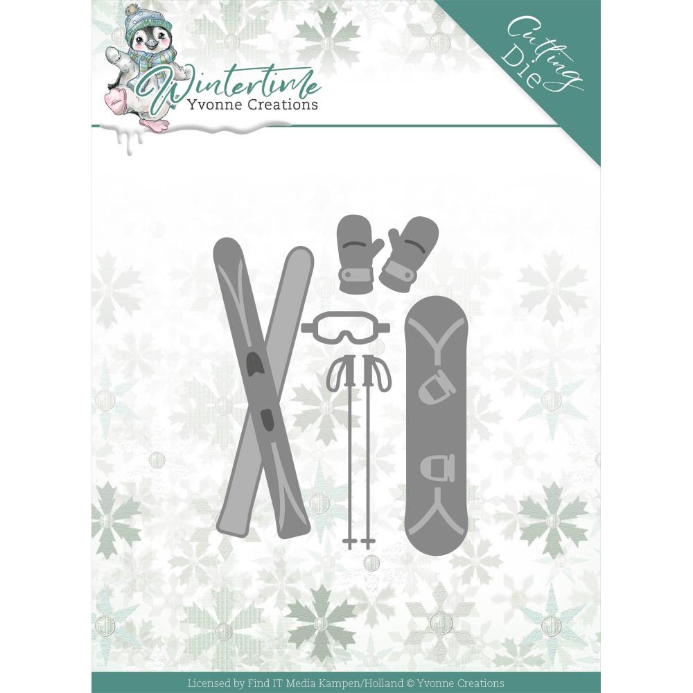FIND IT TRADING YVONNE CREATIONS WINTER TIME SKI ACCESSORIES METAL DIE CUT (IN STOCK)