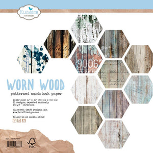 "ELIZABETH CRAFT DESIGNS 12""X12"" PAPER PACK ""WORN WOOD"" (IN STOCK)"