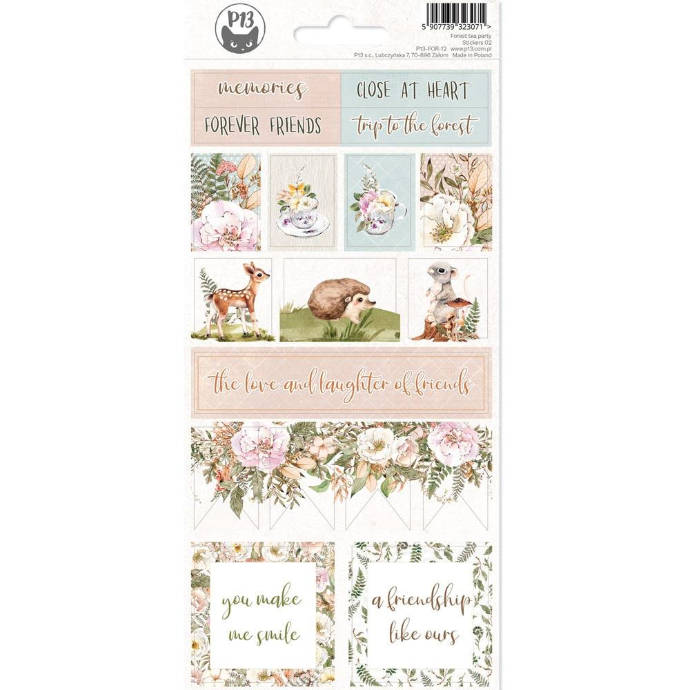 P13 FOREST TEA PARTY #2 CARDSTOCK STICKER SHEET 4