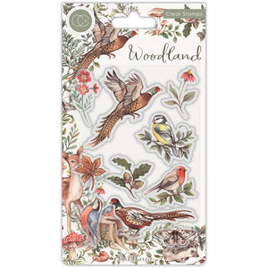CRAFT CONSORTIUM WOODLAND BIRDS CLEAR STAMPS (PRE-ORDER)