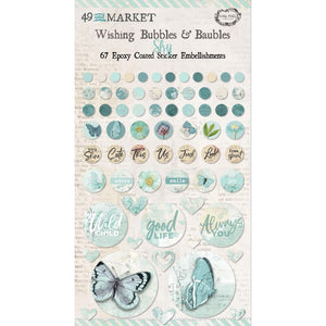 "49 & MARKET EMBELLISHMENTS EPOXY COATED WISHING BUBBLES & BAUBLES ""SKY"" (PRE-ORDER)"