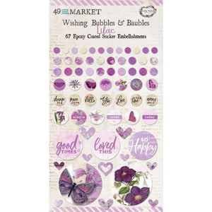 "49 & MARKET EMBELLISHMENTS EPOXY COATED WISHING BUBBLES & BAUBLES ""LILAC"" (PRE-ORDER)"