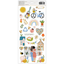 Load image into Gallery viewer, AMERICAN CRAFTS JEN HADFIELD REACHING OUT CARDSTOCK STICKERS (PRE-ORDER)
